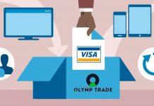 Cara deposit di akun Olymp Trade menggunakan Visa/Mastercard