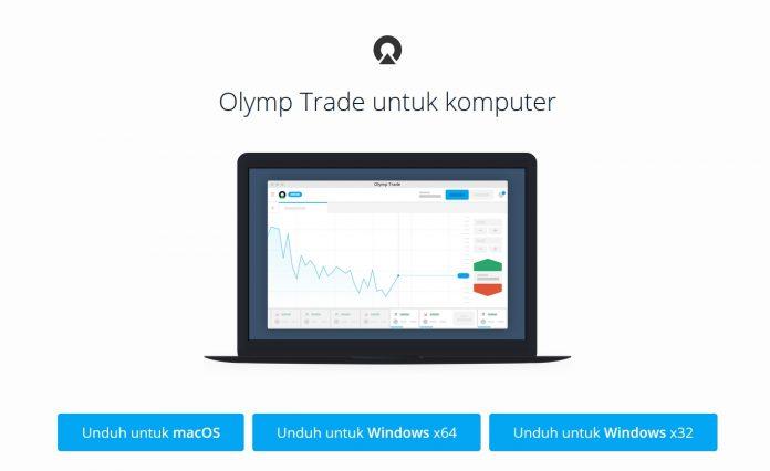 Cara mengunduh dan menginstal aplikasi Olymp Trade di desktop Windows dan MacOS