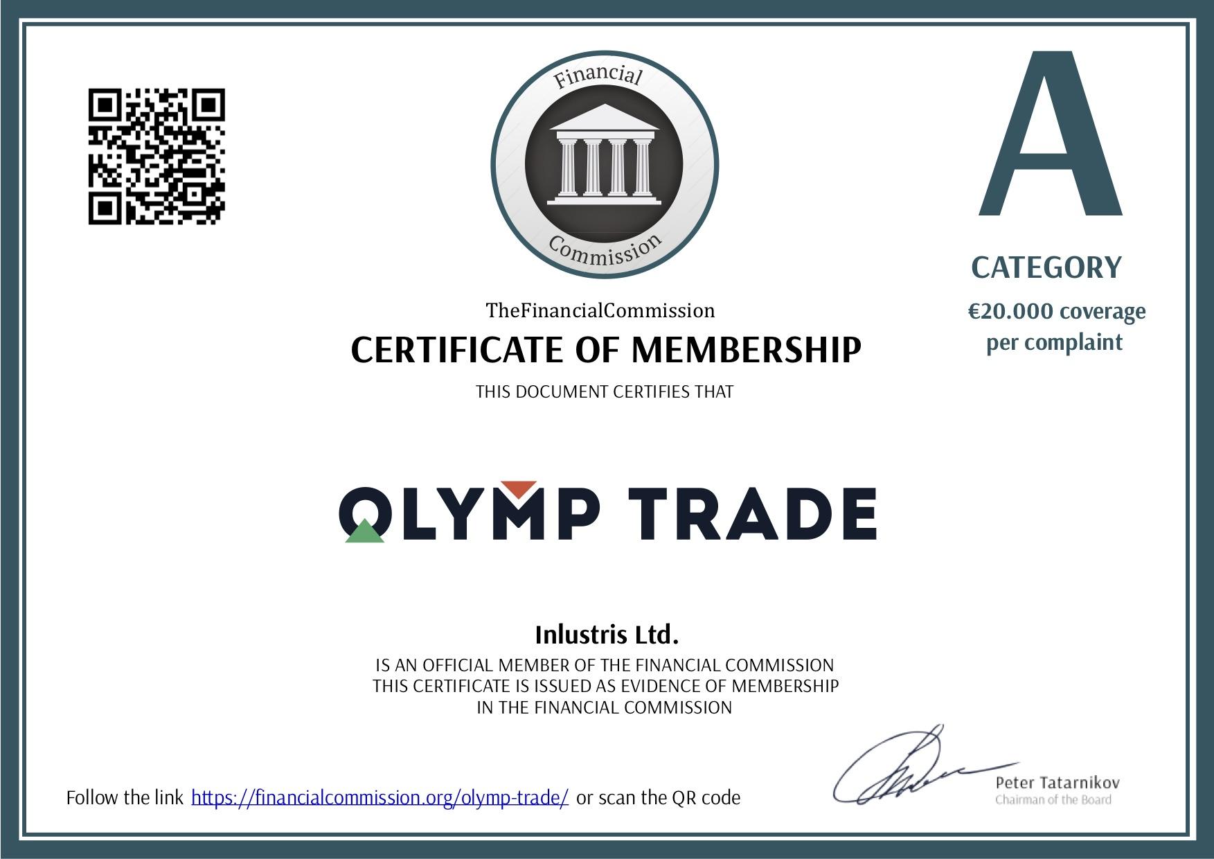 Olymp Trade sangat Transparansi