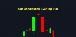 Cara menggunakan pola Kandil Evening Star untuk trade opsi TURUN di Olymp Trade