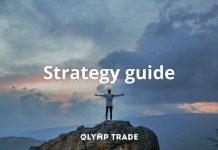 Cara menggunakan trade short di Olymp Trade: Indikator SMA, Support/Resistance dan Even Time dalam kandil