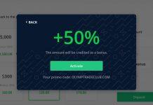 Aktifkan kode promosi Olymp Trade pada akun Anda
