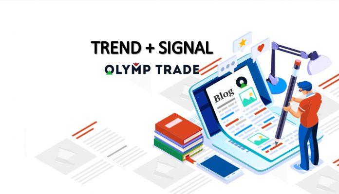 Cara menghasilkan uang di Olymp Trade : Uptrend dan sinyal entry